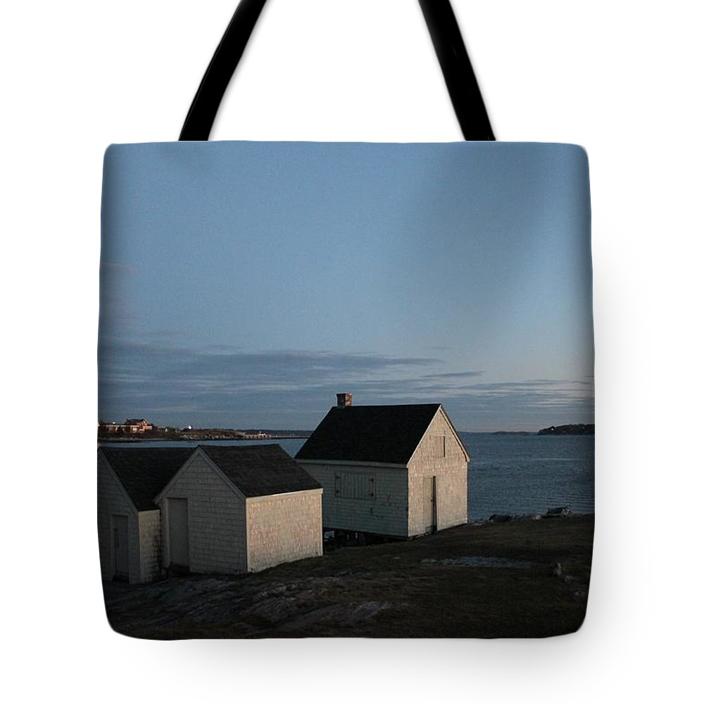 Maine Tote Bag featuring the photograph On The Bluff by Richard Fisher