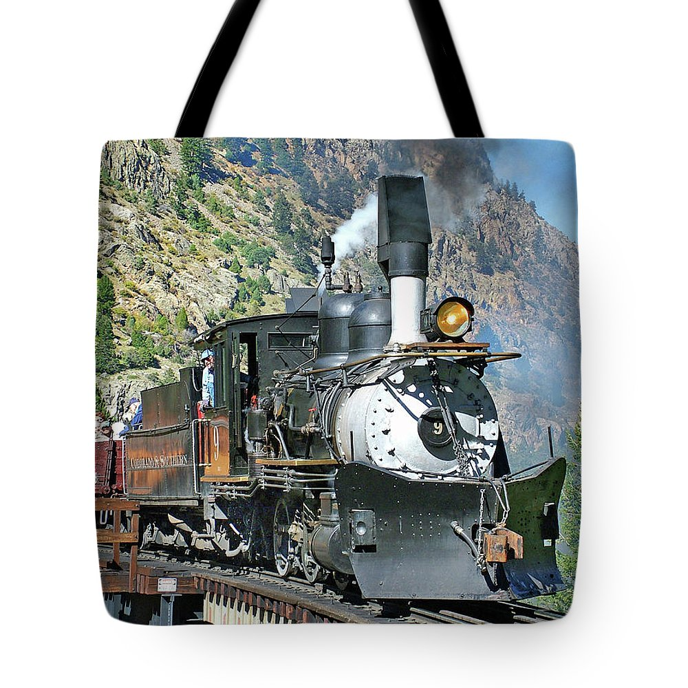 C&s #9 Tote Bag featuring the photograph On The Bridge by Ken Smith