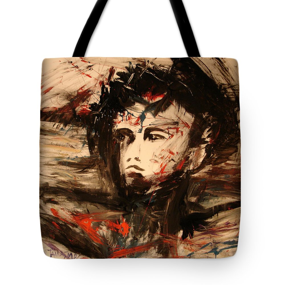 Jesus Tote Bag featuring the painting On The Cross by Jun Jamosmos