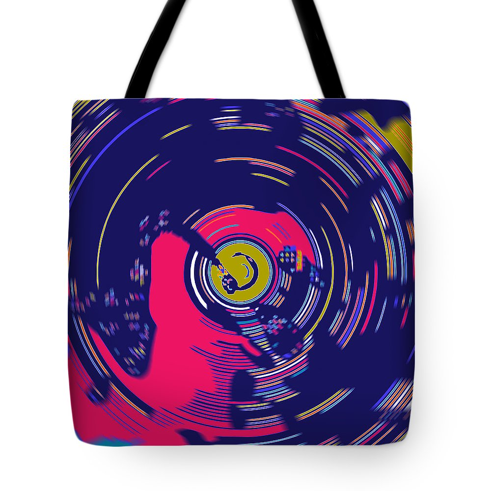 Spin Tote Bag featuring the digital art On The Decks by Joy McKenzie