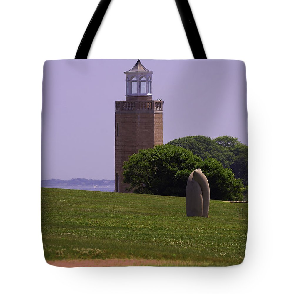 Lighthouse Tote Bag featuring the photograph On The Green by Joe Geraci