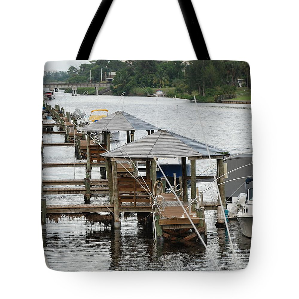 Boats Tote Bag featuring the photograph On The Hillsboro Canal by Rob Hans