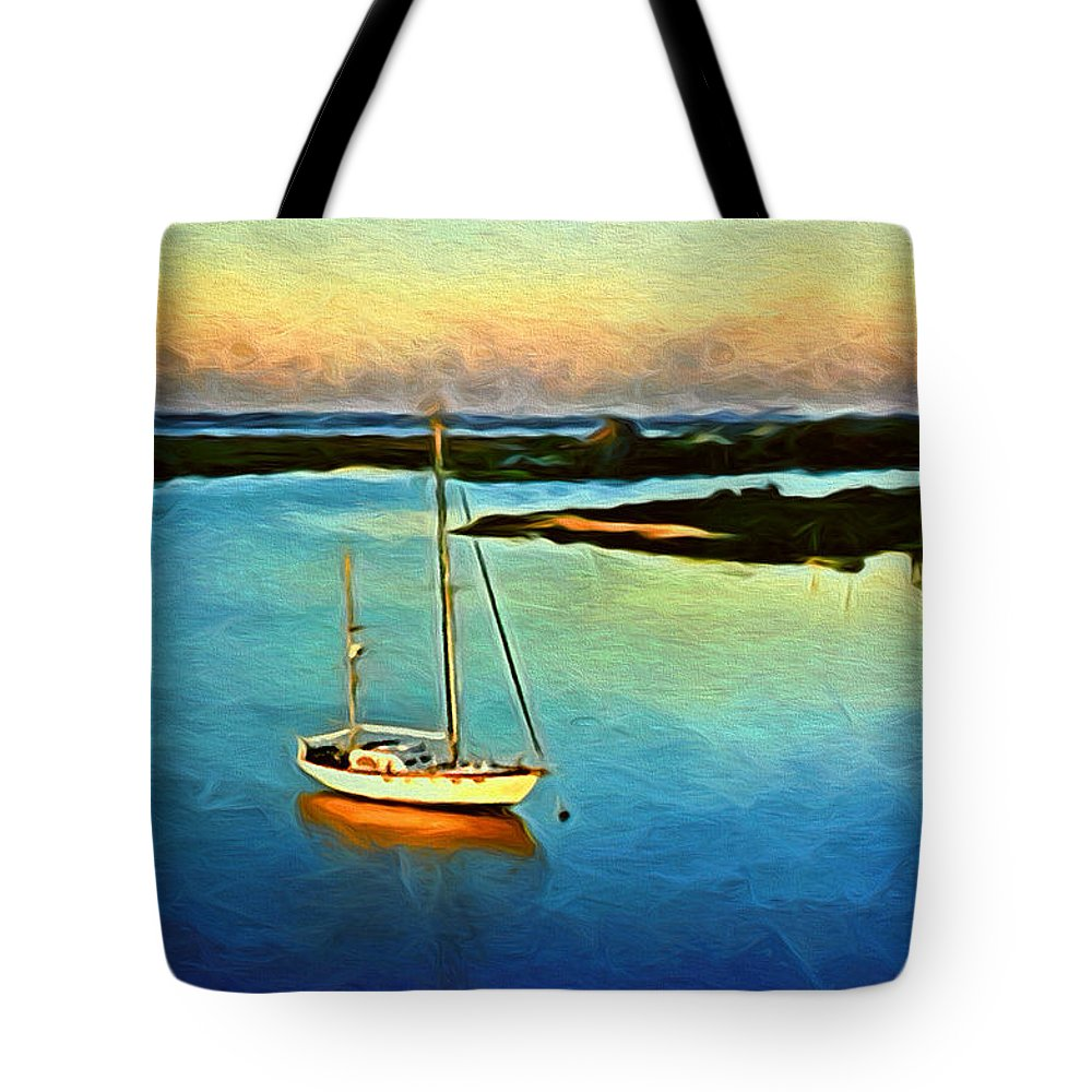 Waterway Tote Bag featuring the photograph On The Intracoastal Isle Of Palms Sc by Gary Nelson