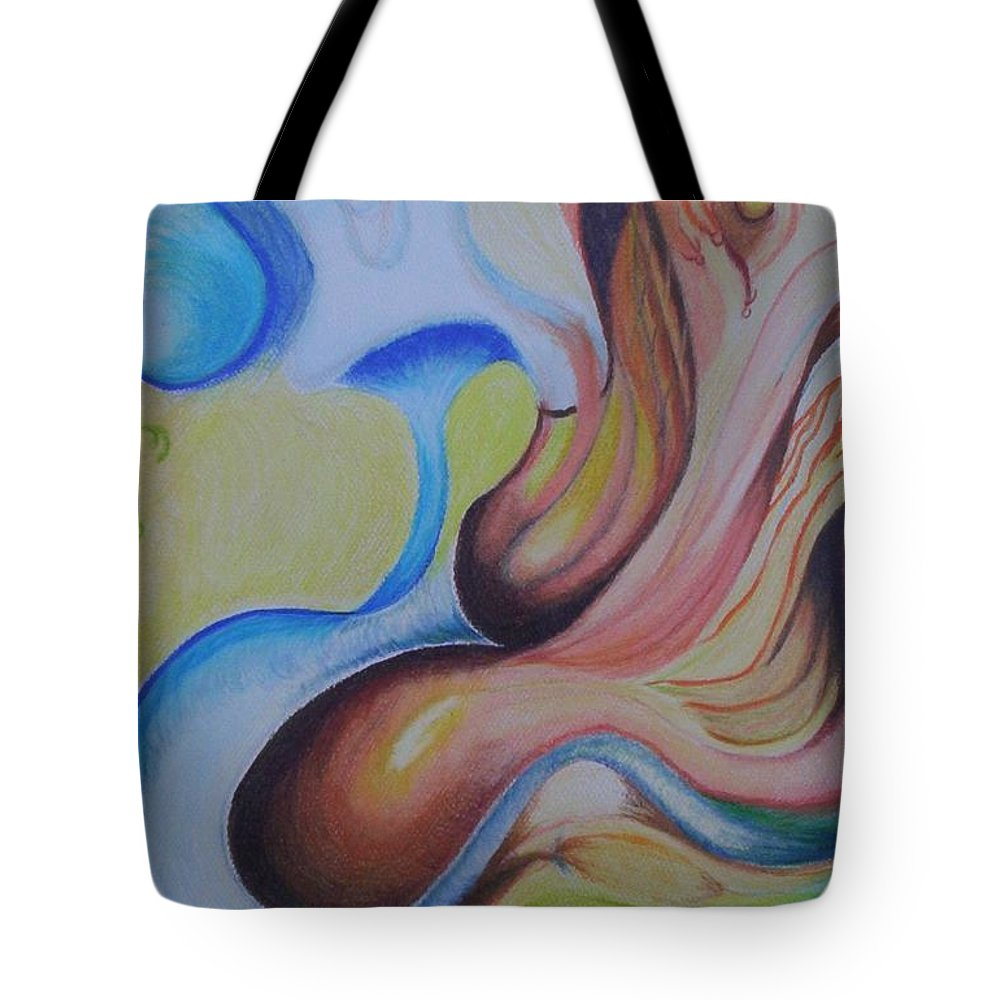 Abstract Tote Bag featuring the painting On The Island by Suzanne Udell Levinger