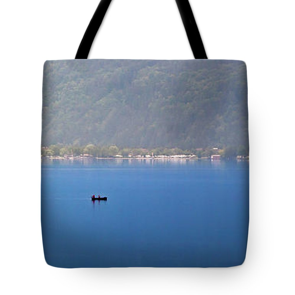 Morning Tote Bag featuring the photograph On The Millstaettersee by Zoran Marmakovic