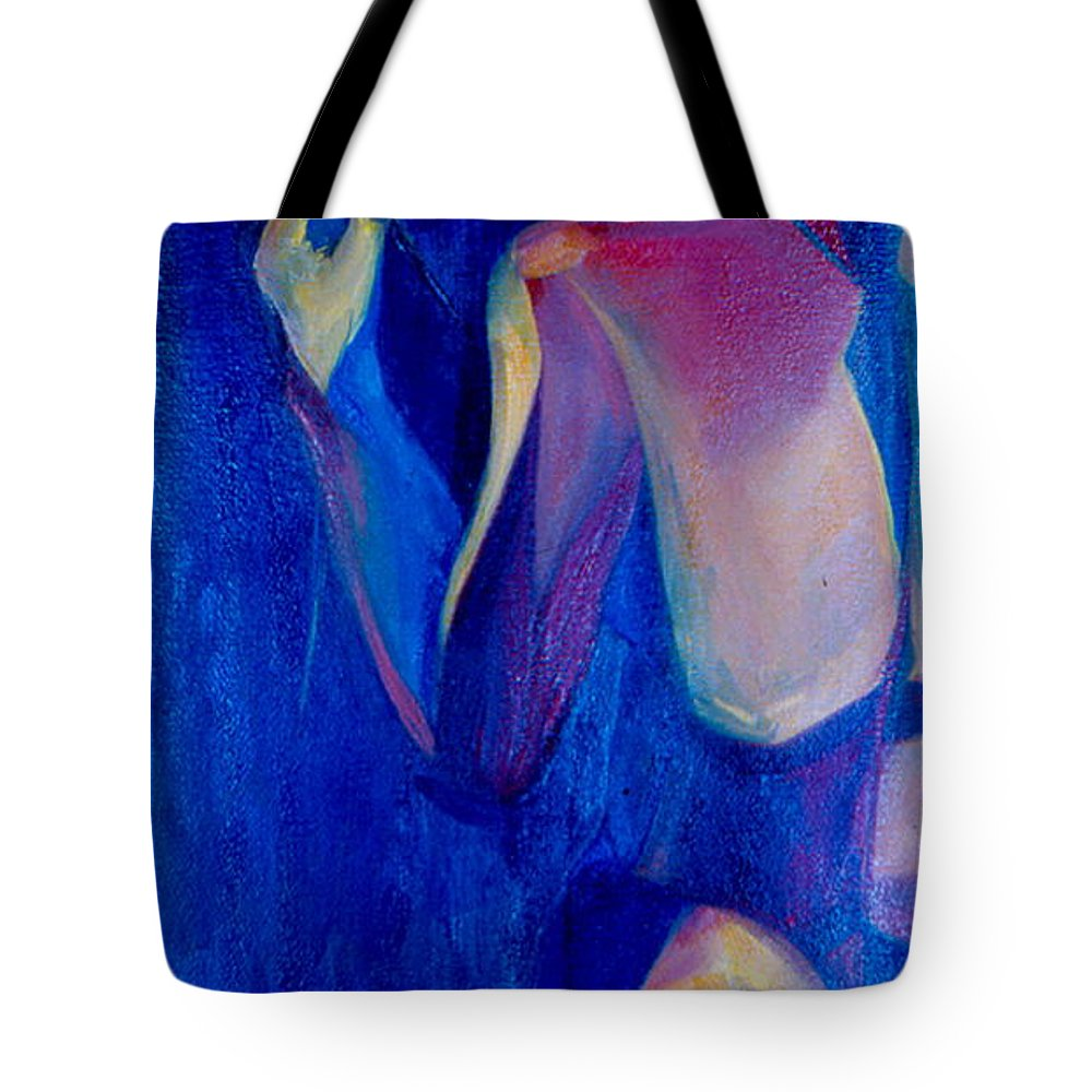 Oil Painting Tote Bag featuring the painting On The Path by Daun Soden-Greene