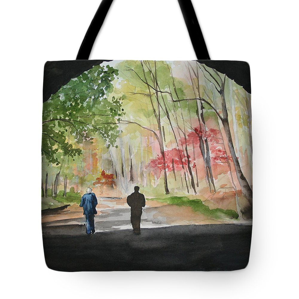 Road Tote Bag featuring the painting On The Road To Nowhere by Jean Blackmer