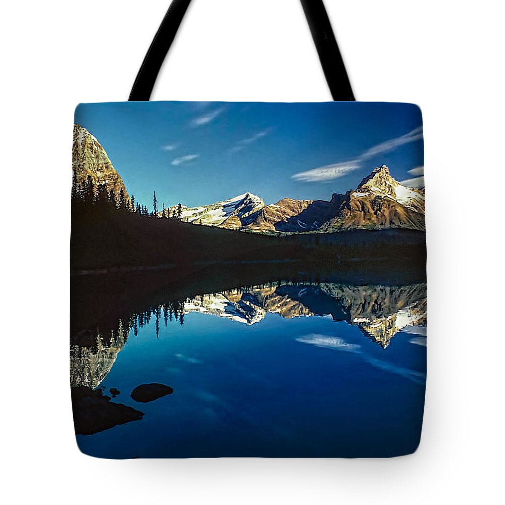 Mountains Tote Bag featuring the photograph On The Trail by Steve Harrington