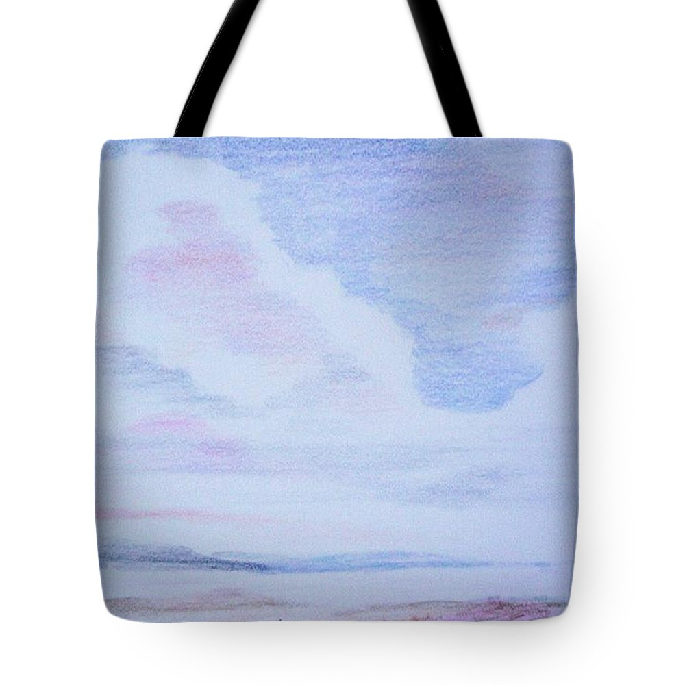 Landscape Painting Tote Bag featuring the painting On The Way by Suzanne Udell Levinger