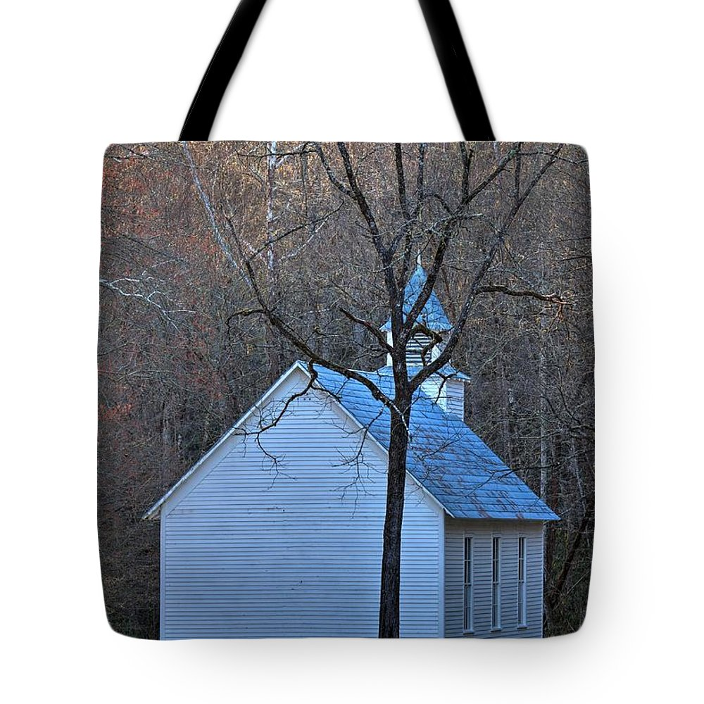 Cataloochee Tote Bag featuring the photograph On The Way To Church by Carol Montoya