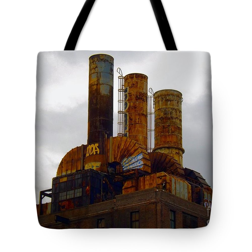 Factory Tote Bag featuring the photograph On Top Of Old Smokey by Robyn King