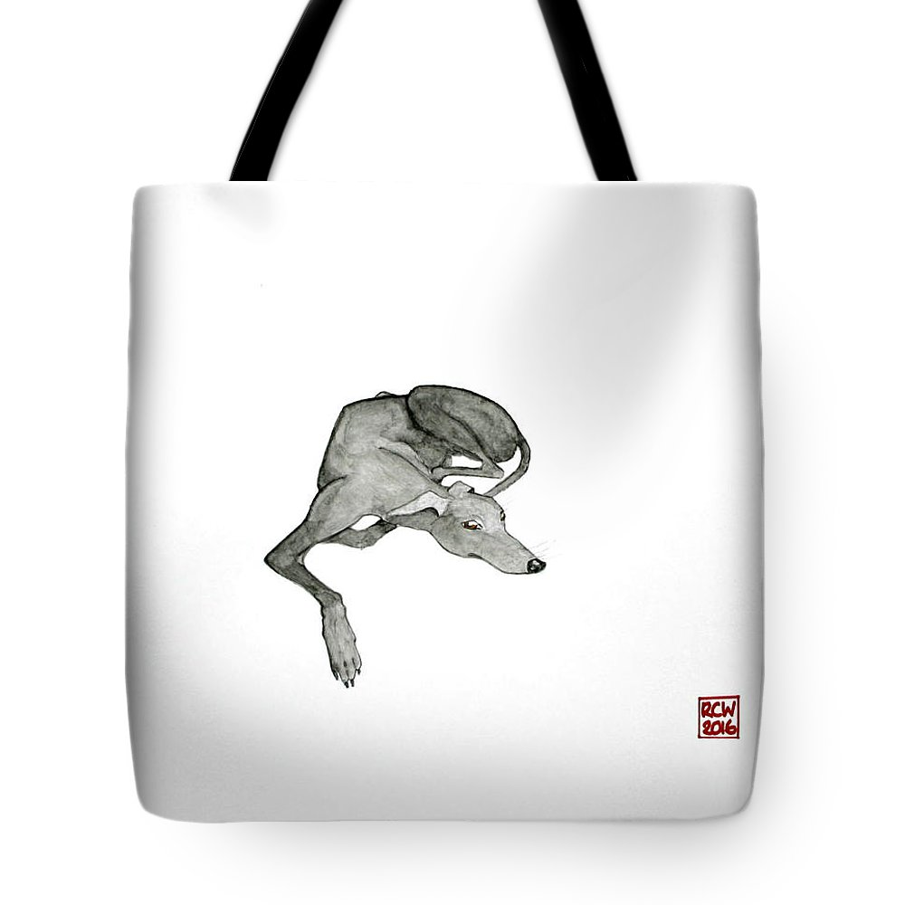 Dogs Tote Bag featuring the painting On Watch by Richard Williamson