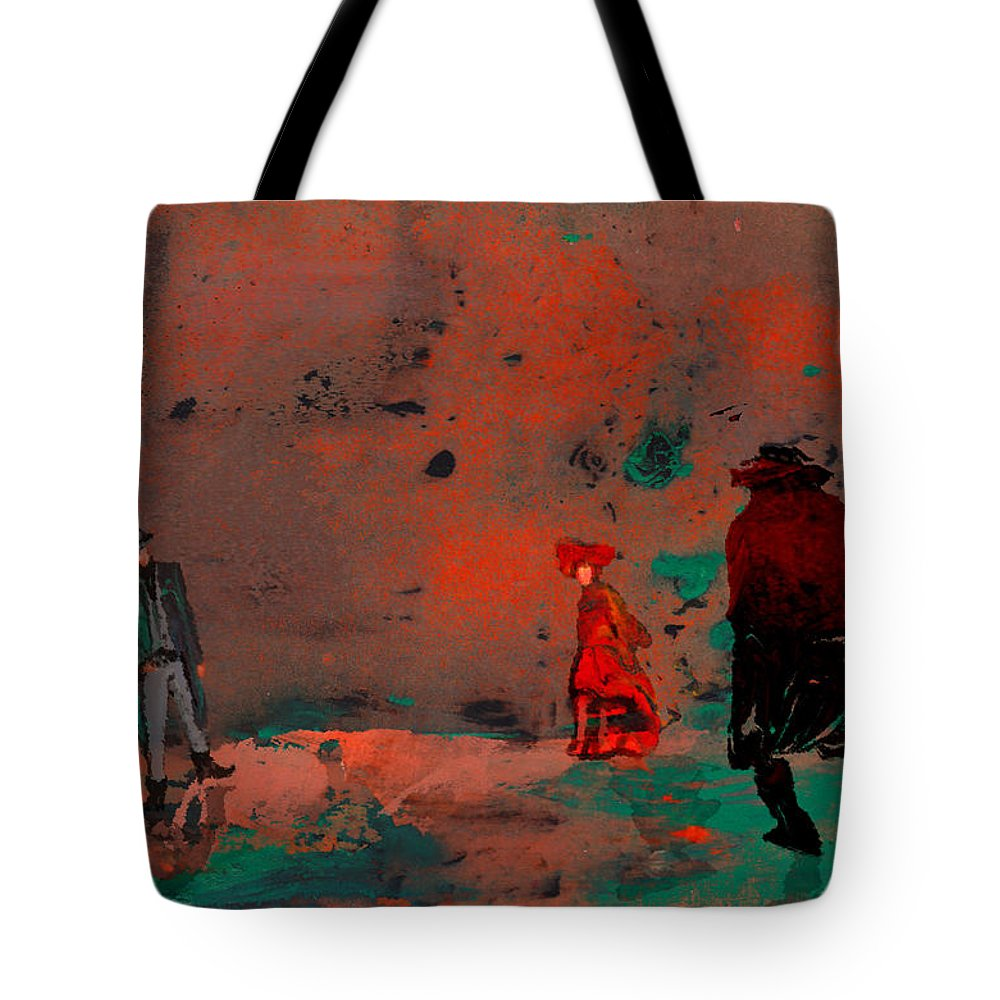 Fantasy Tote Bag featuring the painting Once Upon A Time In The West by Miki De Goodaboom
