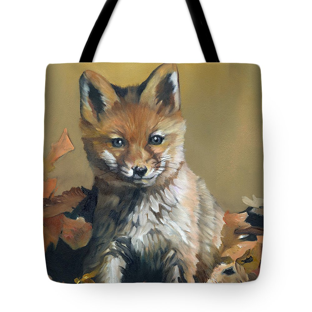 Fox Tote Bag featuring the painting Once Upon A Time by J W Baker