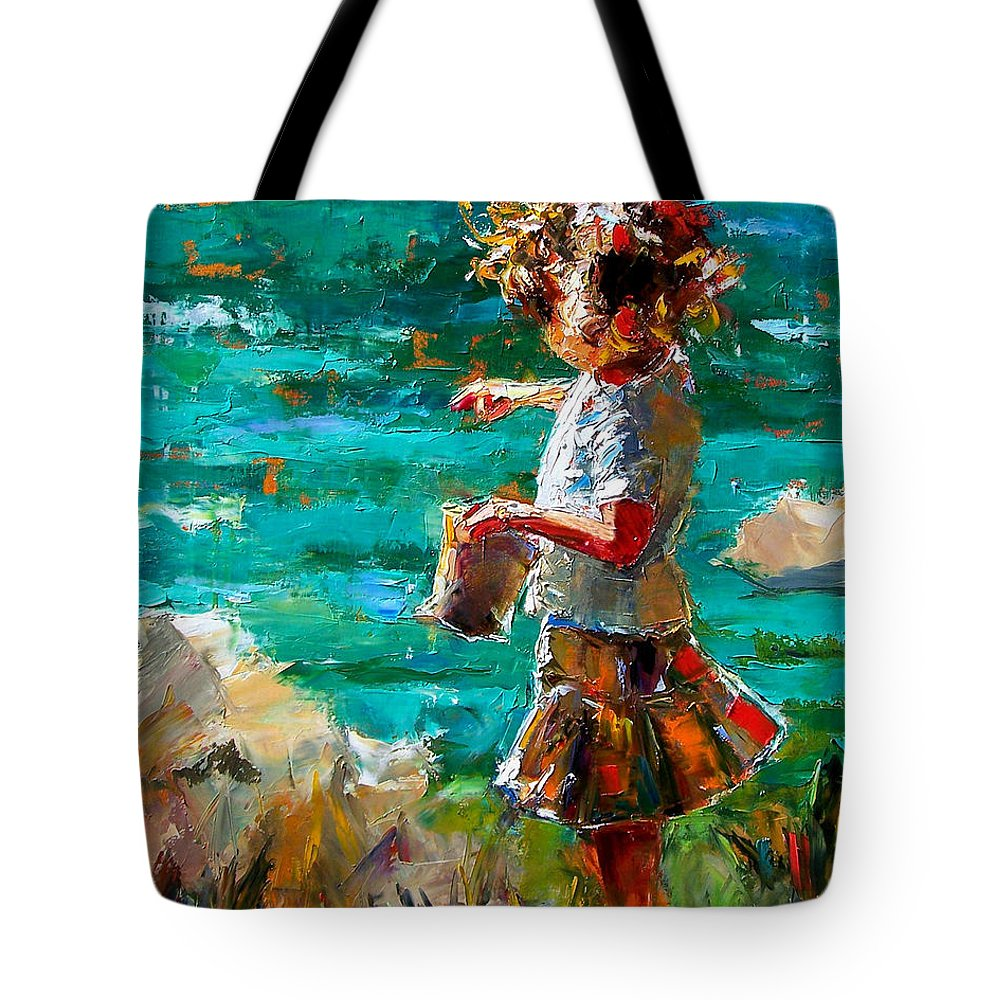 Children Tote Bag featuring the painting One At A Time by Debra Hurd