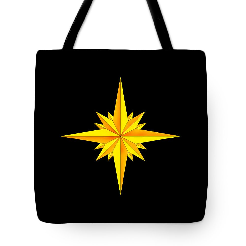 Compass Tote Bag featuring the painting One Brite And Shining Star by Anne Norskog