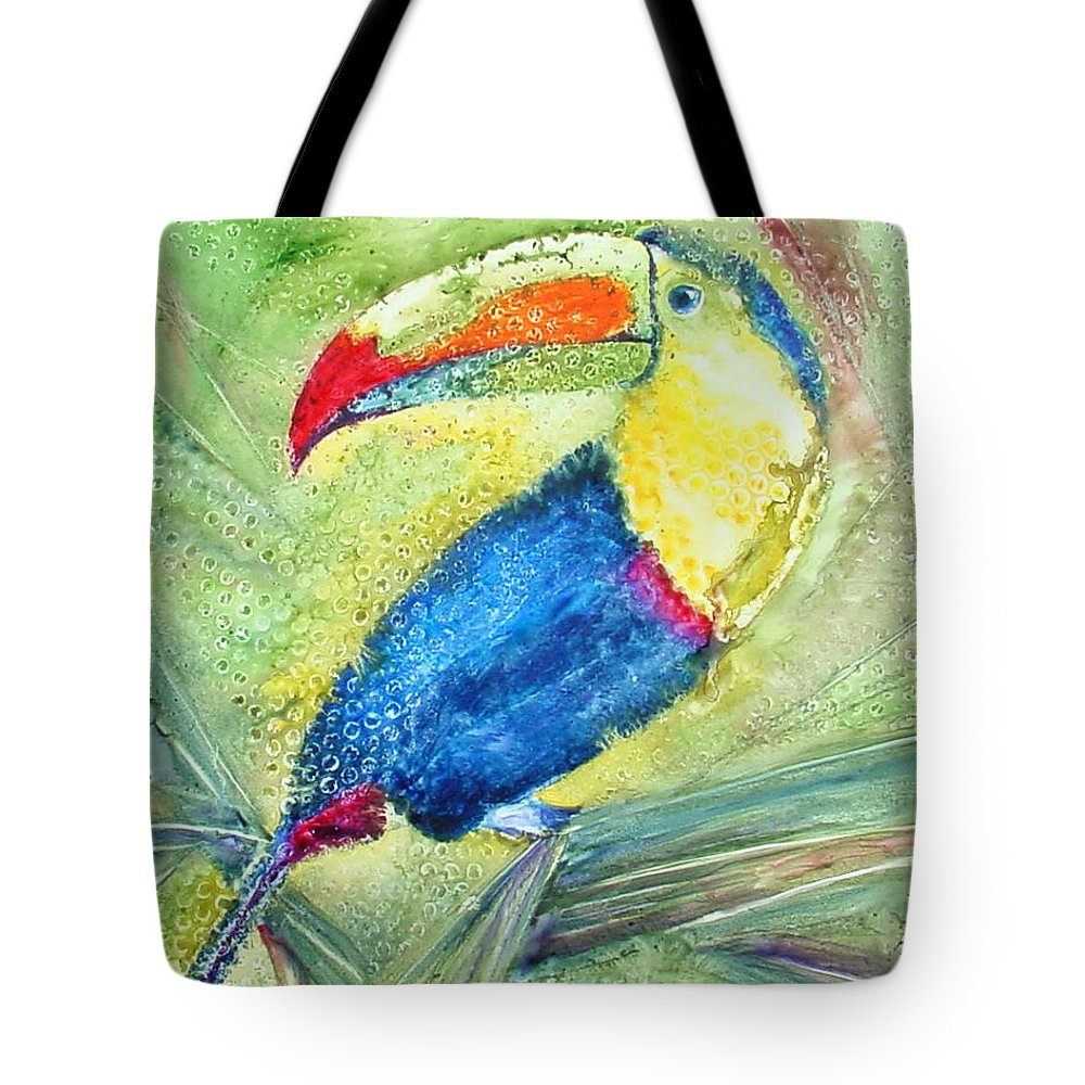 Toucan Tote Bag featuring the painting One Can't But Toucan by Marsha Elliott