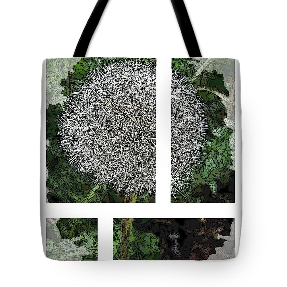 Dandilion Tote Bag featuring the digital art One Dandy Lion 2 by Tim Allen
