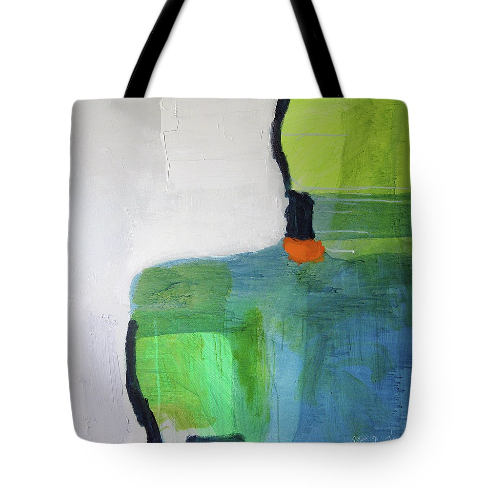 Abstract Tote Bag featuring the painting One Day I Was Dreaming by Claire Desjardins