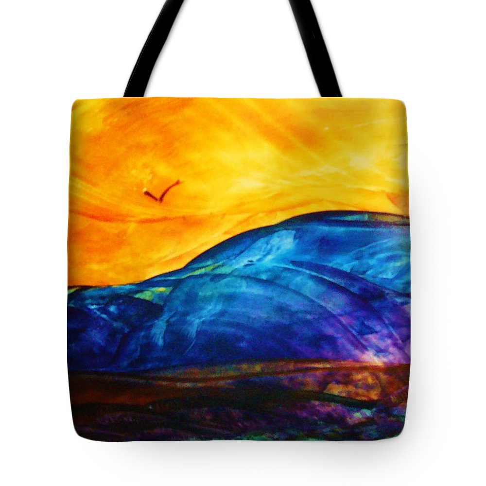 Landscape Tote Bag featuring the painting One Fine Day by Melinda Etzold