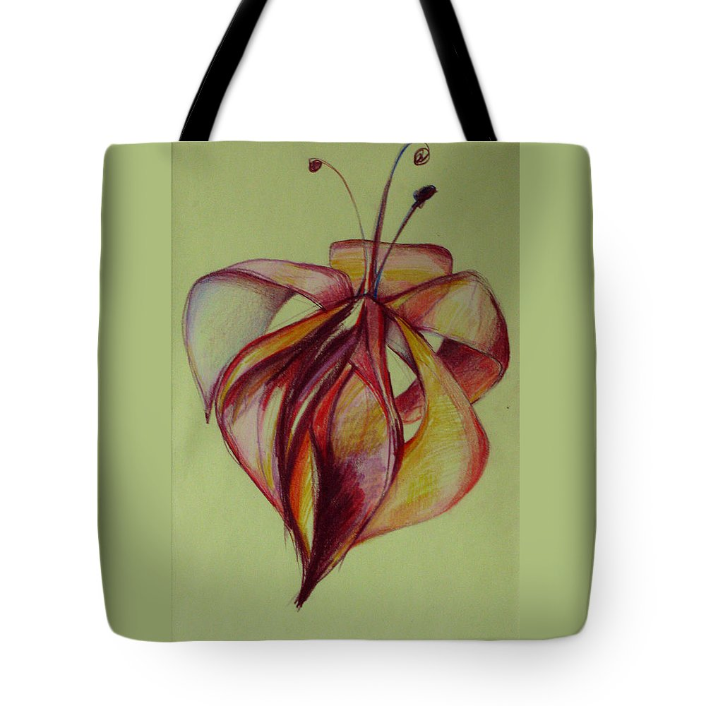 Flower Tote Bag featuring the painting One Flower by Cristina Rettegi