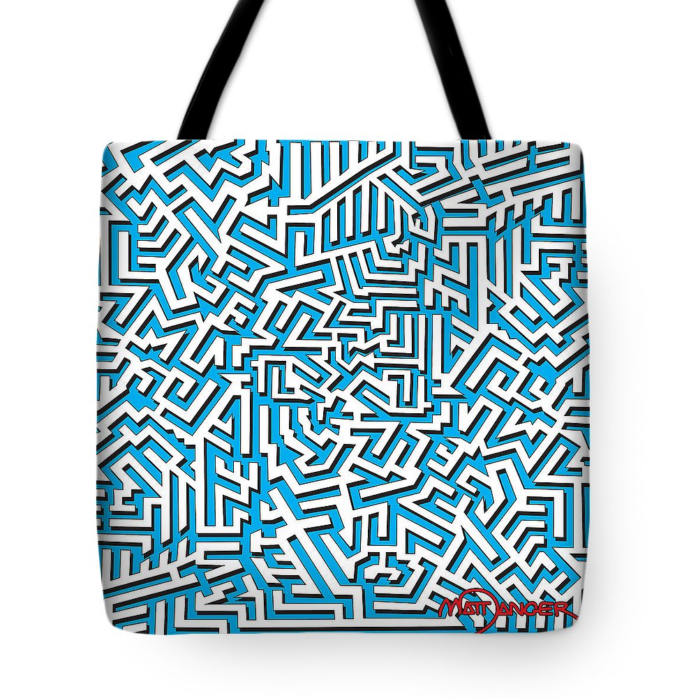 Abstract Tote Bag featuring the digital art One Liner 26 3d by Matt Danger