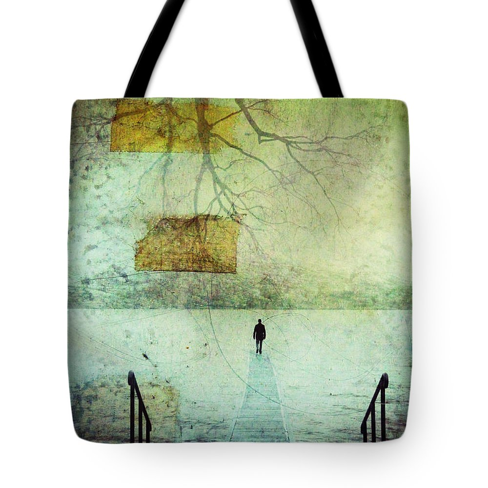 Man Tote Bag featuring the photograph One Man In The Winter Of His Life by Tara Turner