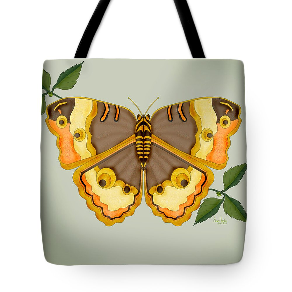 Butterfly Tote Bag featuring the painting One More Jewel For The Garden by Anne Norskog