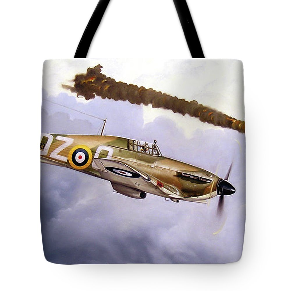 Aviation Art Tote Bag featuring the painting One Of The Few by Marc Stewart