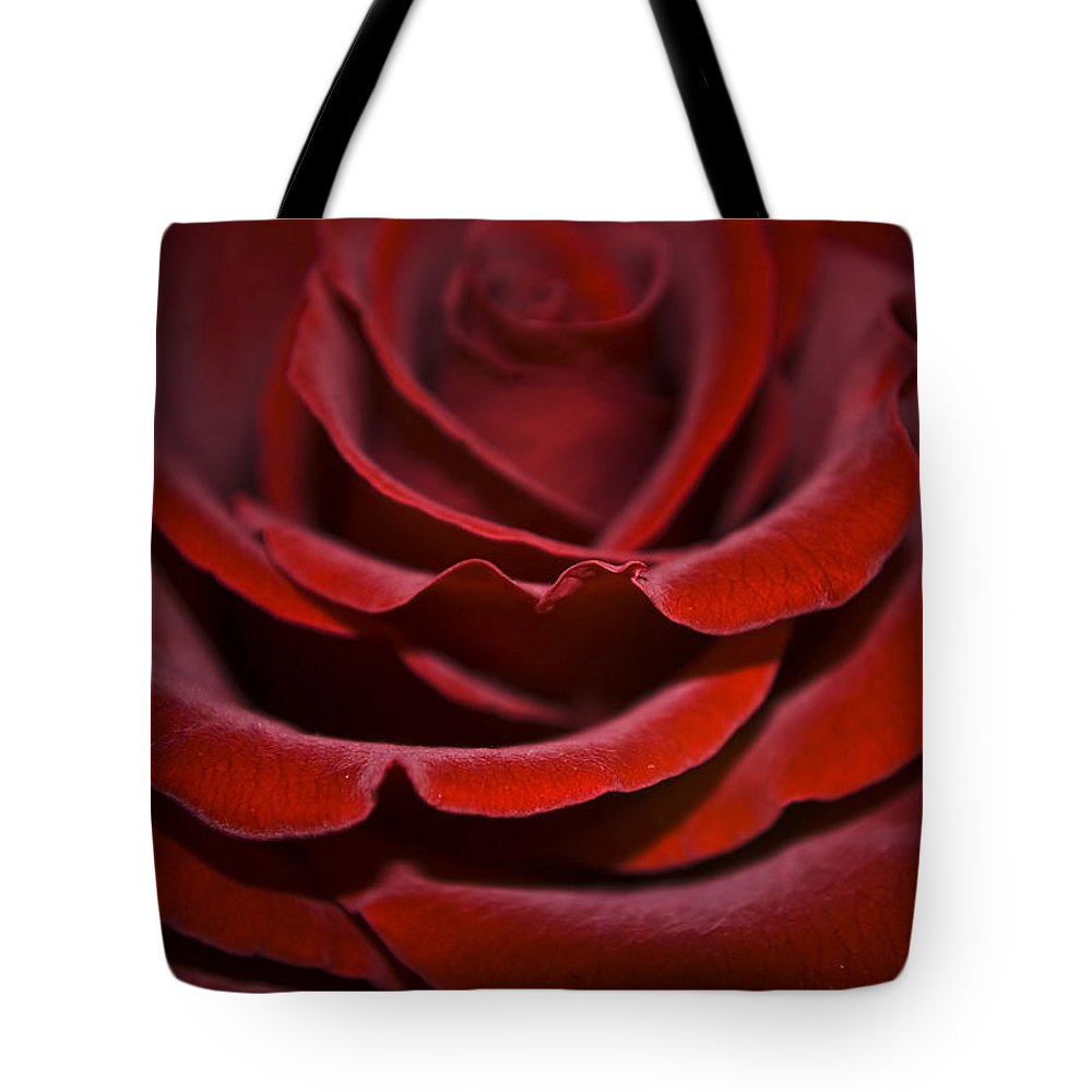 Rose Tote Bag featuring the photograph One Red Rose by Svetlana Sewell