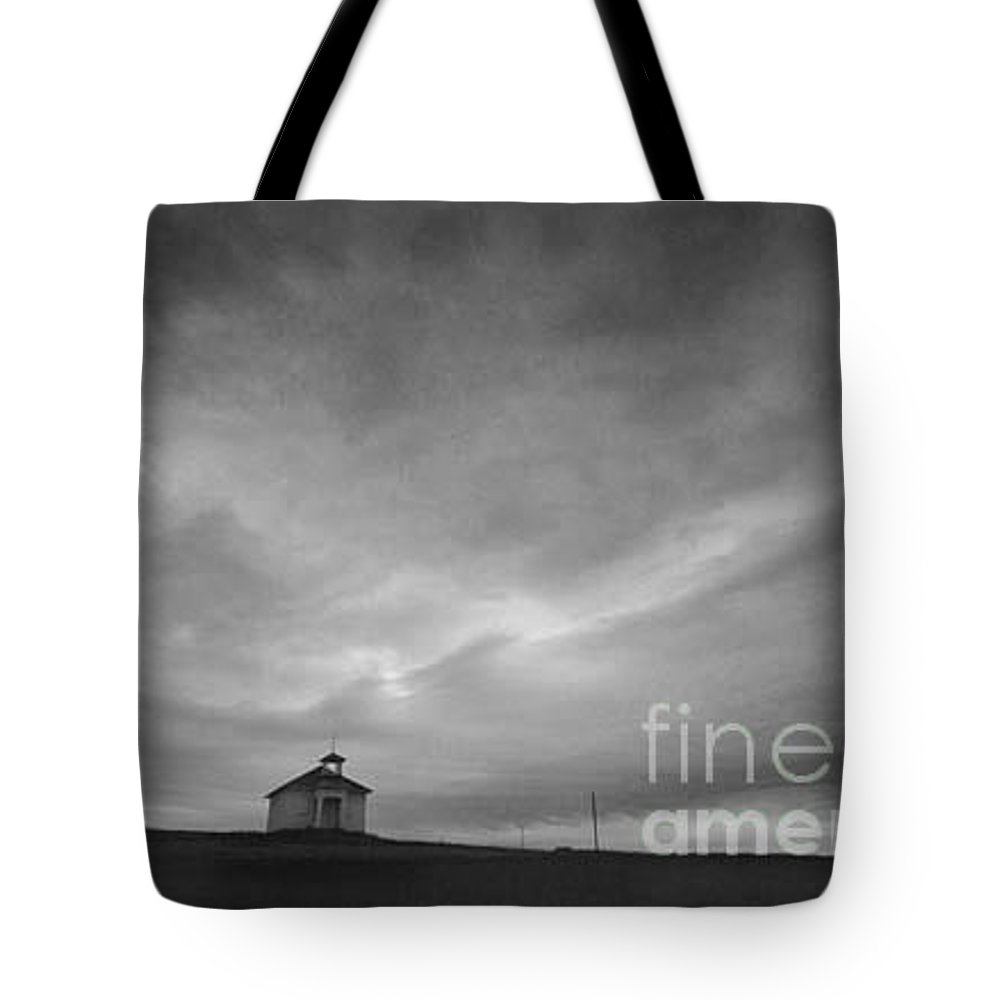 Landscape Tote Bag featuring the photograph One Room Schoolhouse by Michael Ziegler
