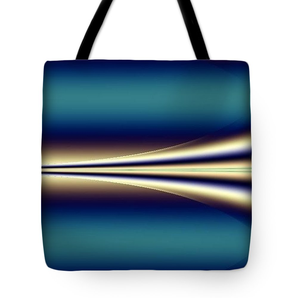 Digital Art Tote Bag featuring the digital art One Way II by Dragica Micki Fortuna