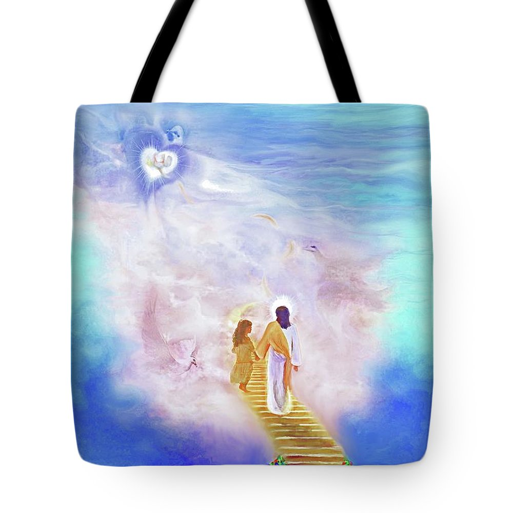 Christian Painting Tote Bag featuring the painting One Way To God by Susanna Katherine