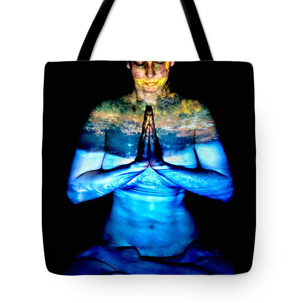 Nature Tote Bag featuring the photograph One With Nature by Greg Fortier