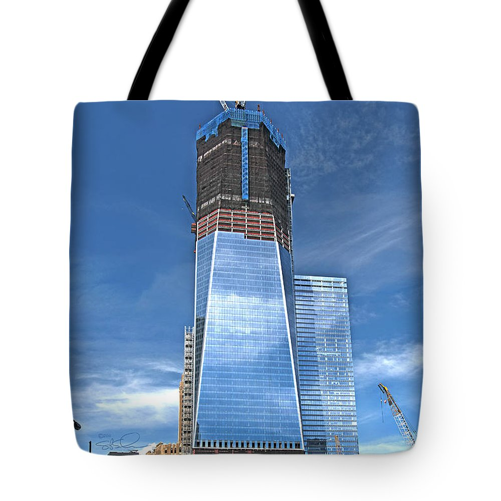 Nyc Tote Bag featuring the photograph One World Trade by S Paul Sahm
