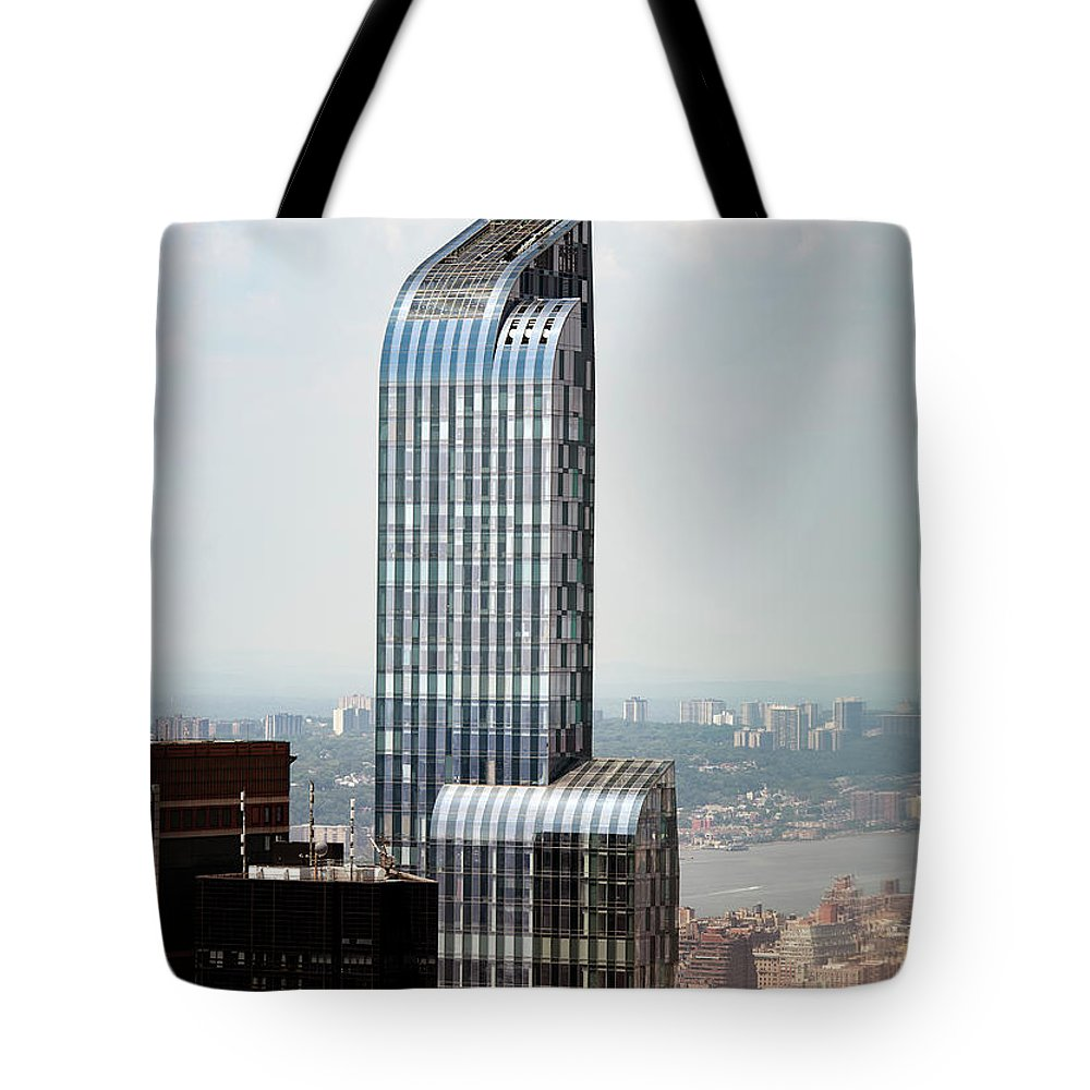 One57 Tote Bag featuring the photograph One57 And Park Hyatt Hotel In Nyc by David Oppenheimer