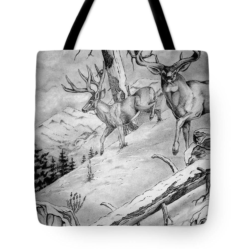 Arizona Tote Bag featuring the painting Ones That Got Away by Jimmy Smith
