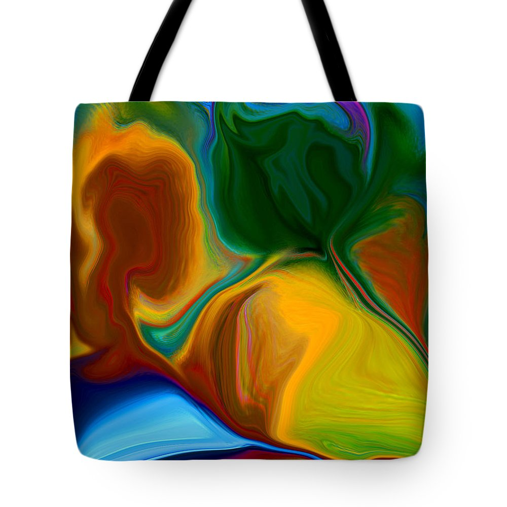 Tote Bag featuring the digital art Only One Love by Ruth Palmer