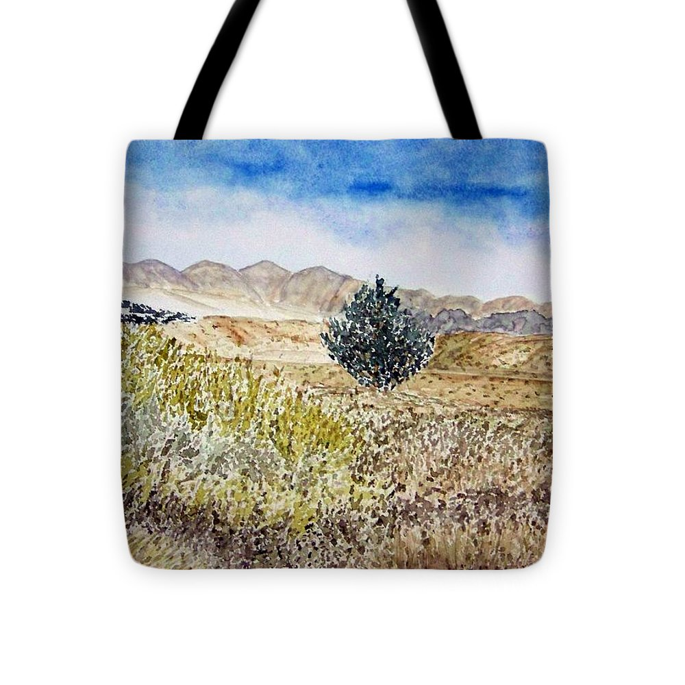 Desert Art Tote Bag featuring the painting Onyo National Forest by Larry Wright