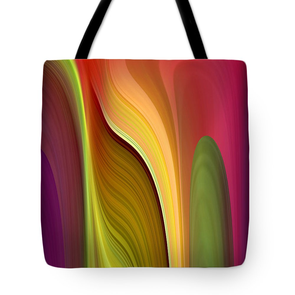 Abstract Tote Bag featuring the digital art Oomph by Ruth Palmer