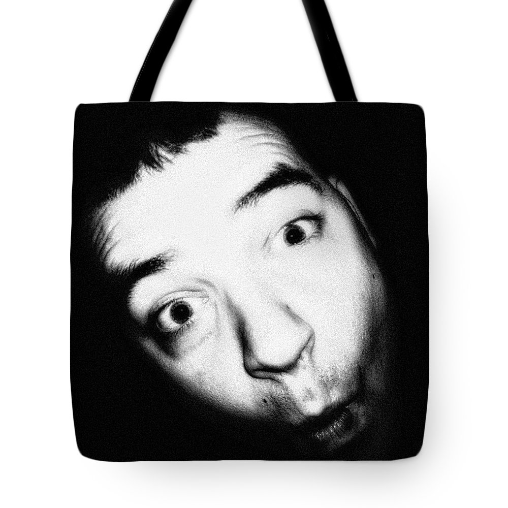 Black And White Tote Bag featuring the photograph Ooooh Fishy Face by Jenn Beck