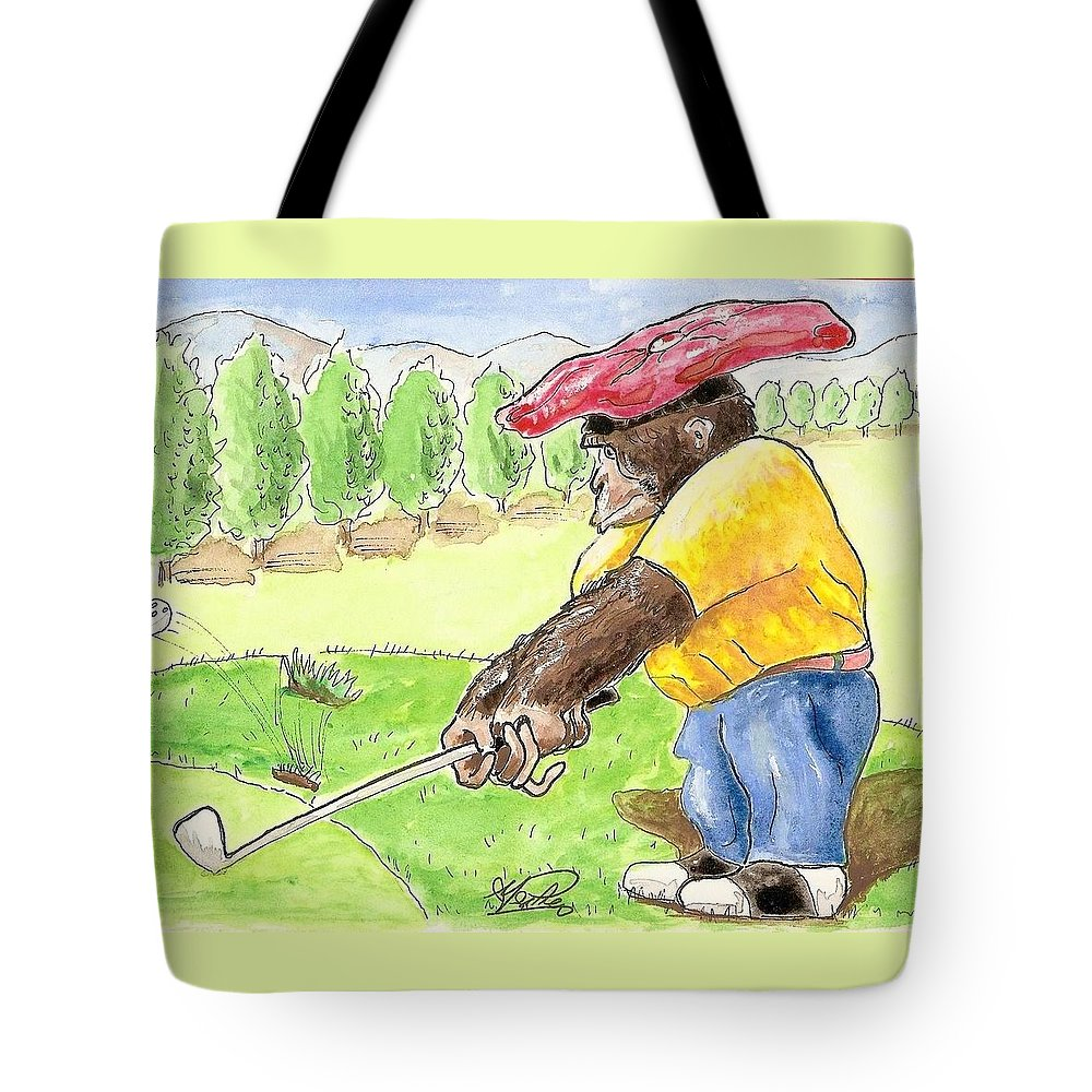 Golf Tote Bag featuring the painting Oops by George I Perez