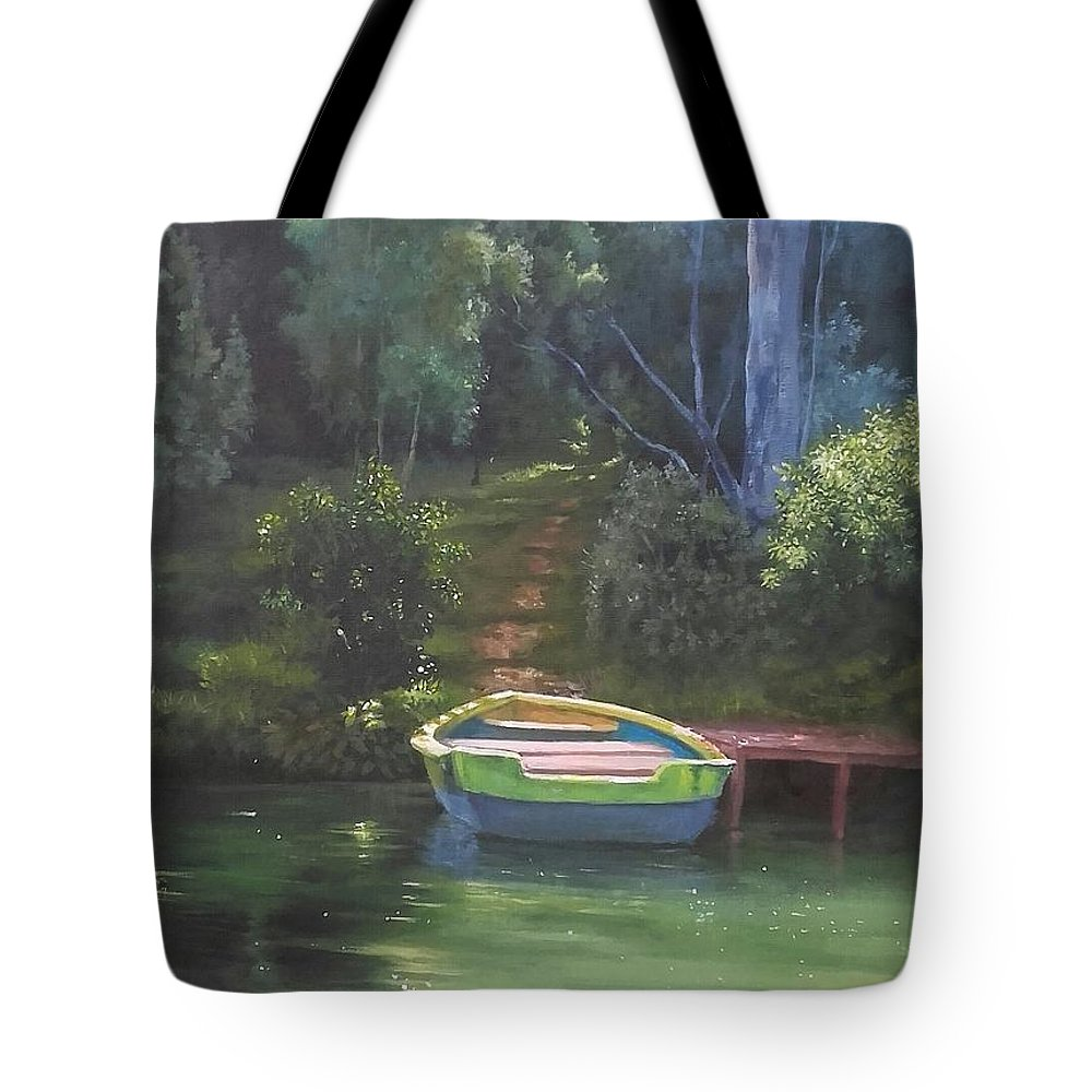 Landscape Tote Bag featuring the painting Ootty by Bineesh Sebastian