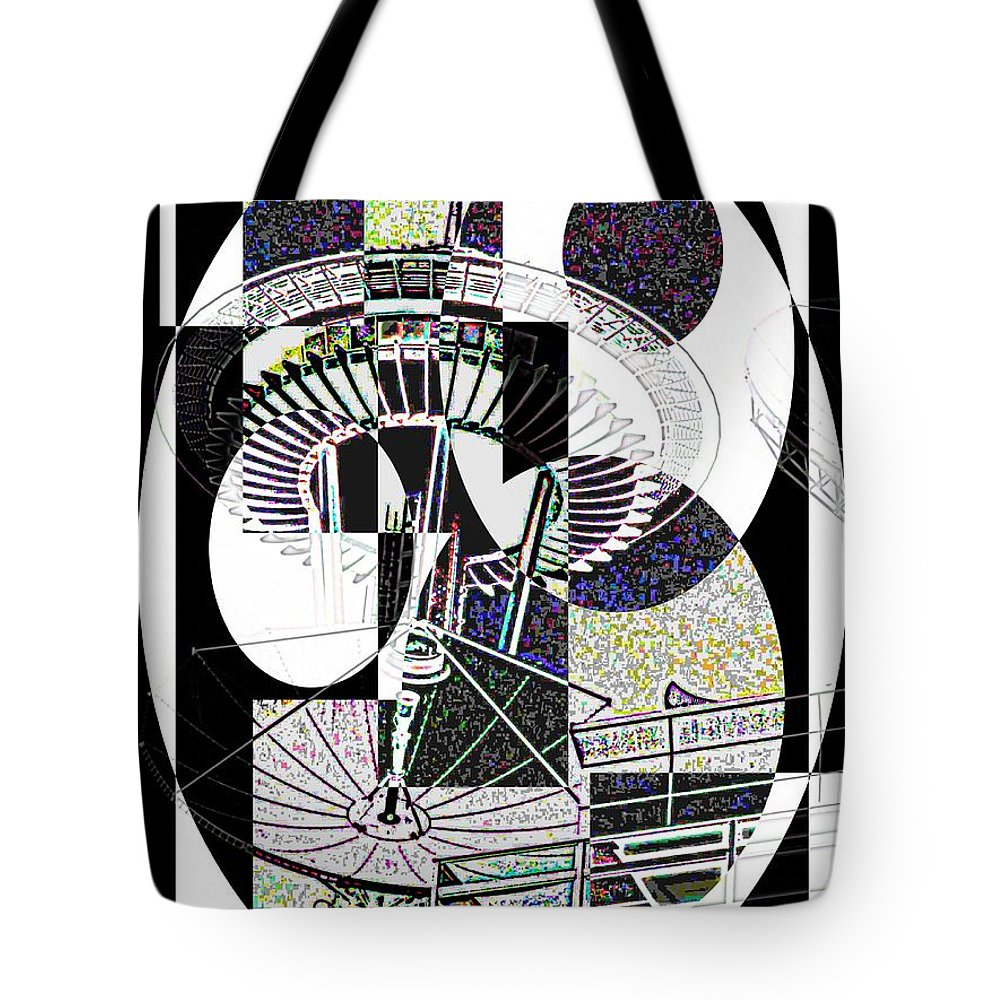 Seattle Tote Bag featuring the photograph Op Goes The Needle by Tim Allen