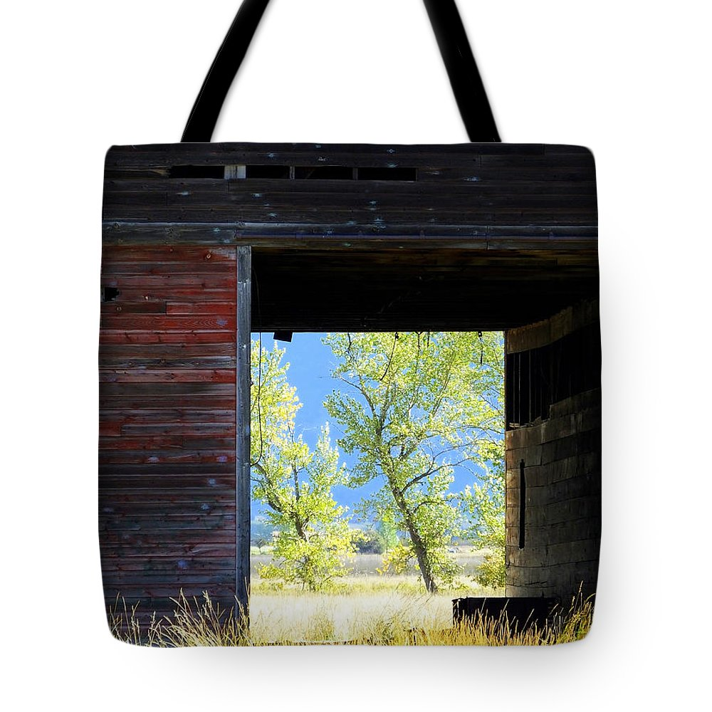 Barn Tote Bag featuring the photograph Open Door by Mick Sullivan