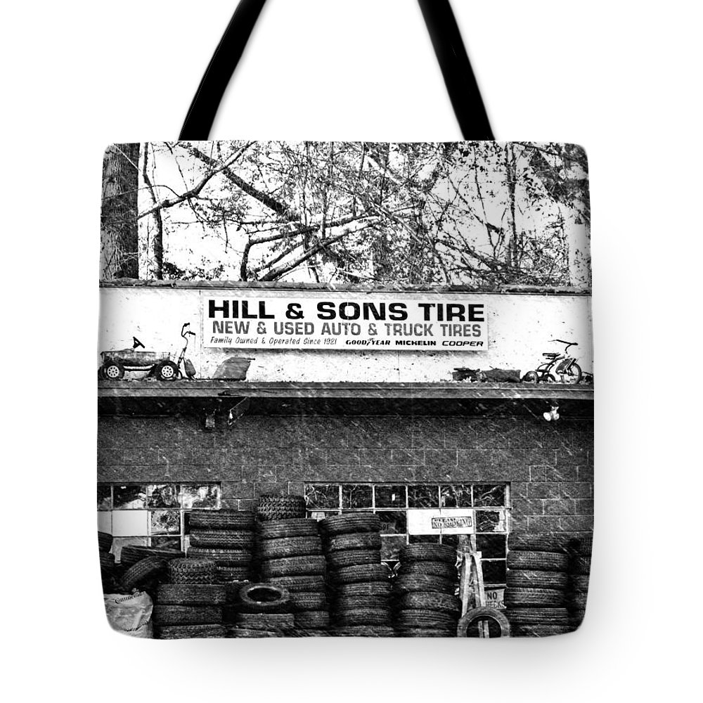 Buildings Tote Bag featuring the photograph Open For Business by Dick Goodman