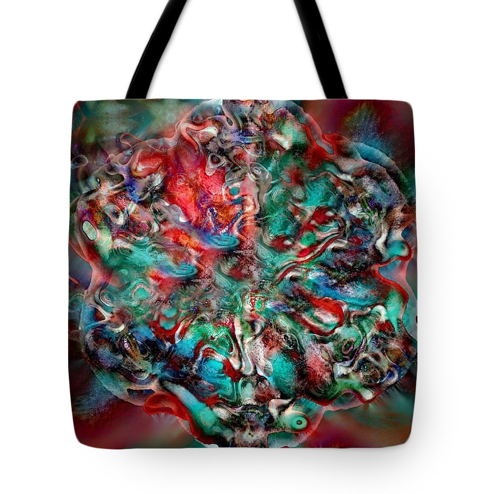 Heart Passion Life Tote Bag featuring the digital art Open Heart by Veronica Jackson