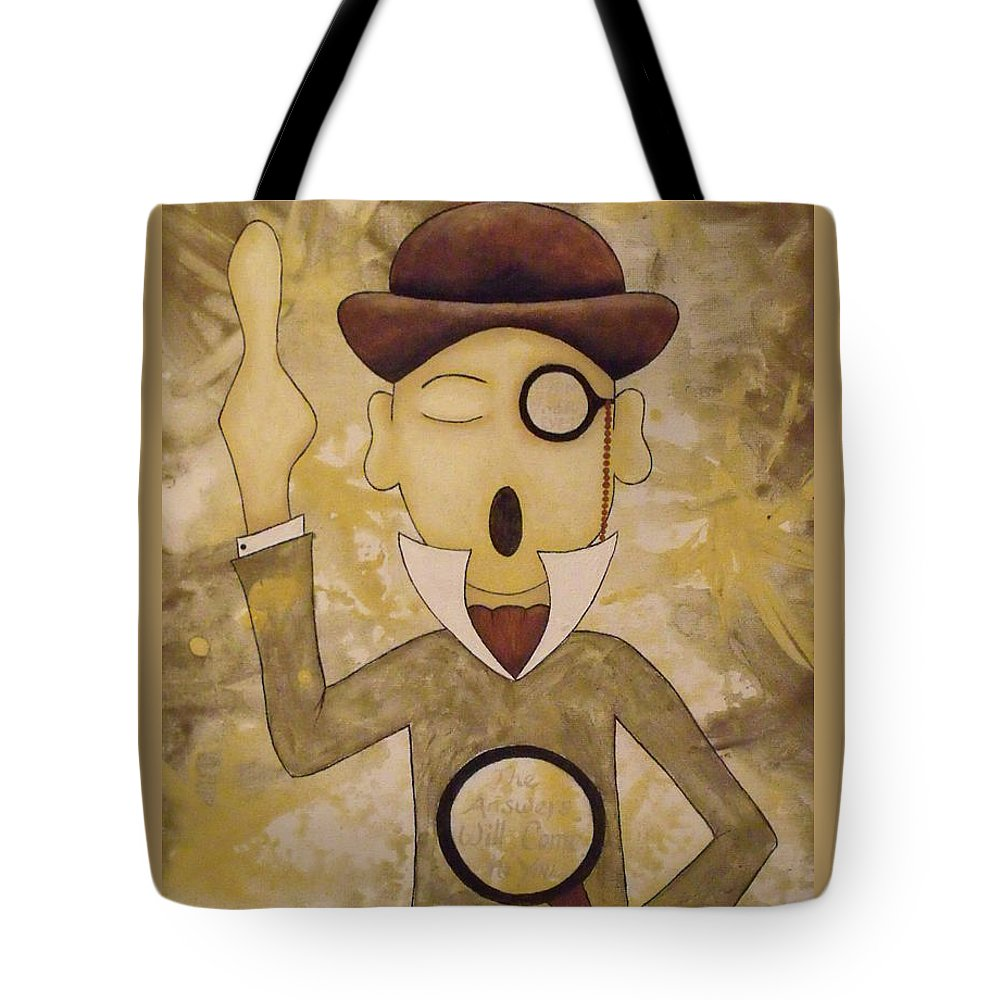 Eyes Tote Bag featuring the painting Open Your Eyes by Stefanie Beauregard