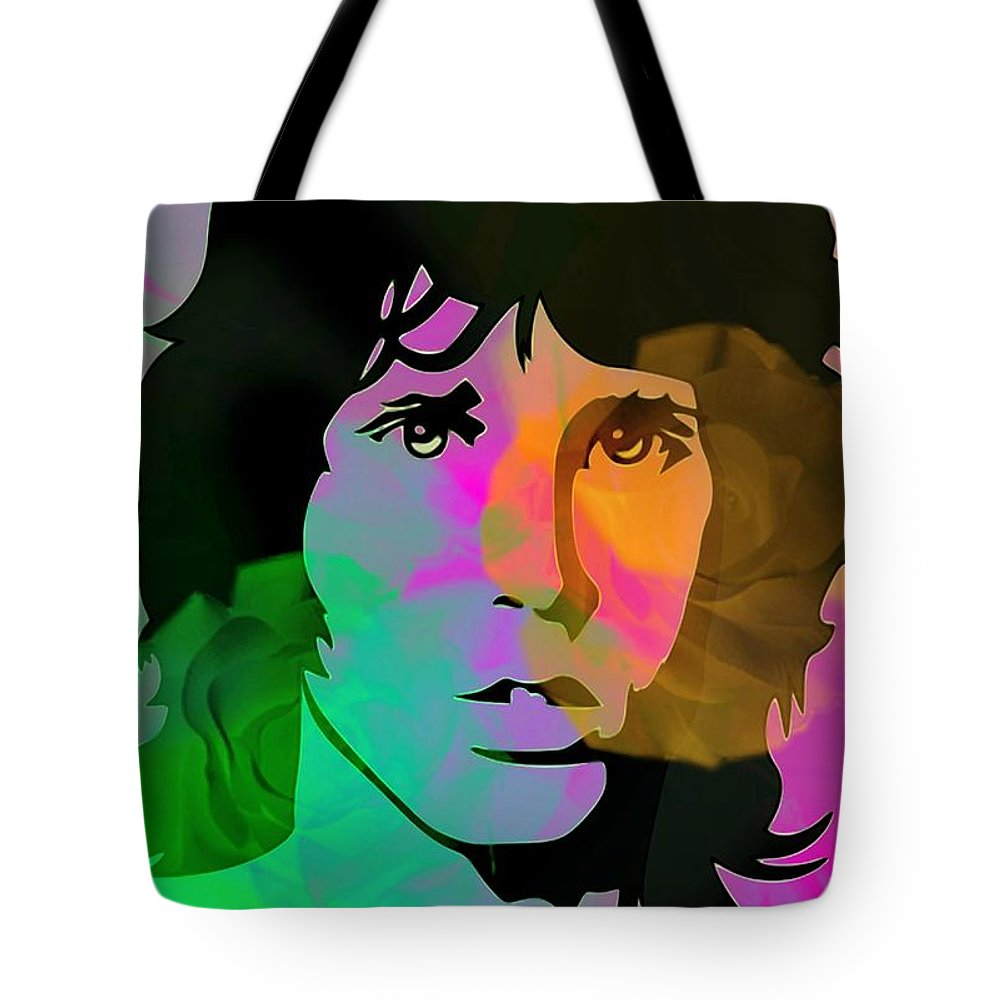 Jim Morrison. The Doors Tote Bag featuring the digital art Opening Doors by Diana Angstadt