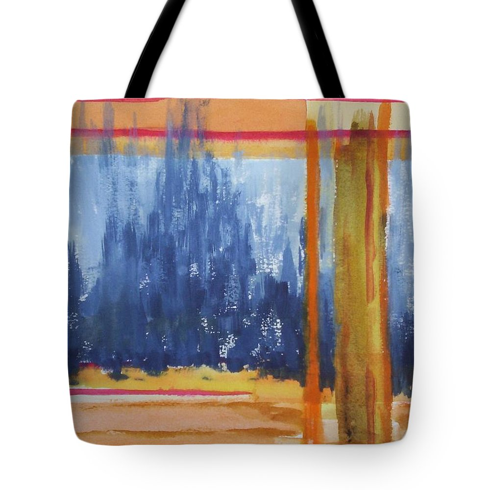 Landscape Tote Bag featuring the painting Opening by Suzanne Udell Levinger